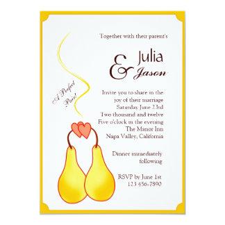Una invitación perfecta del boda de los pares