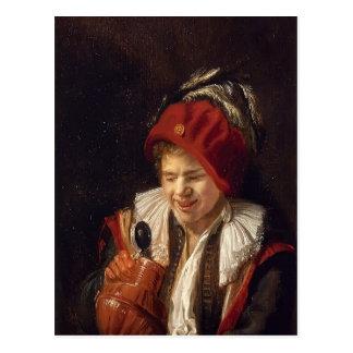 Una juventud con un jarro de Judith Leyster Tarjeta Postal