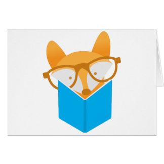 una lectura linda del zorro tarjeta