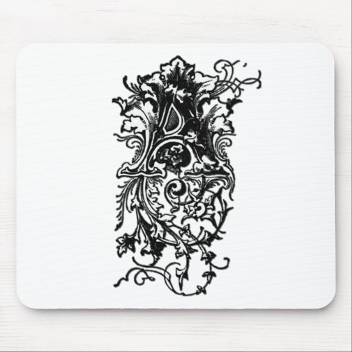 Una letra decorativa tapetes de raton