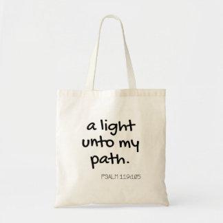 Una luz a la mi bolsa de asas de la trayectoria