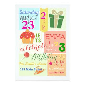 Una magdalena, una corona, y una princesa Birthday Invitación 12,7 X 17,8 Cm