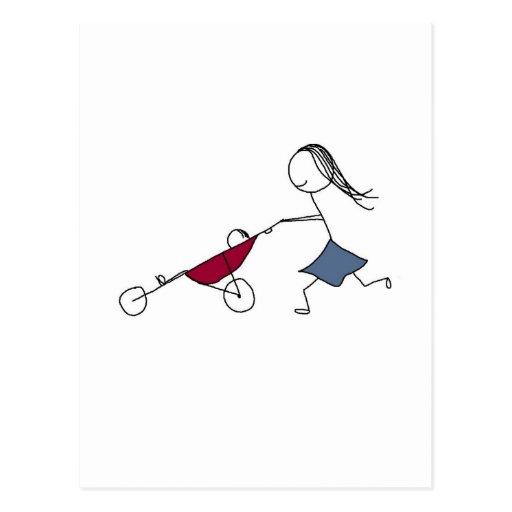 Una mamá corriente es una mamá feliz tarjeta postal
