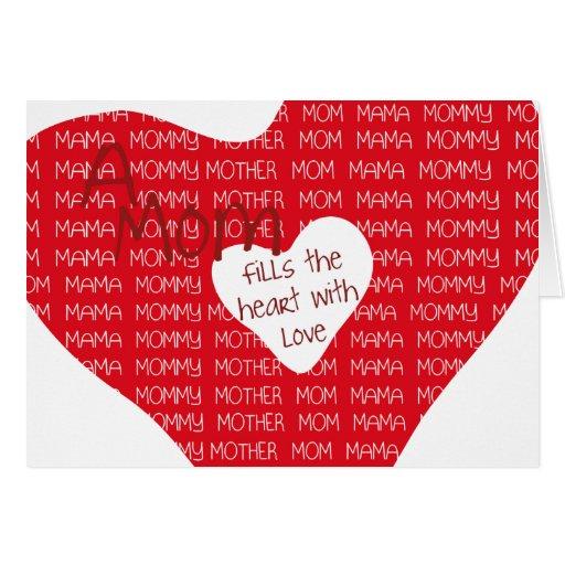 Una mamá… tarjetas