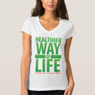 Una manera de vida más sana - camiseta de la mujer