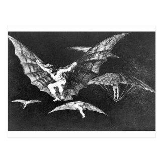 Una manera de vuelo de Francisco Goya Postal