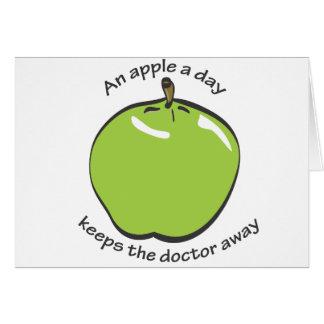 Una manzana al día… tarjeta de felicitación