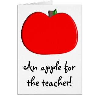 ¡Una manzana para el profesor! Tarjeta De Felicitación