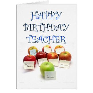 Una manzana para la tarjeta de cumpleaños del prof