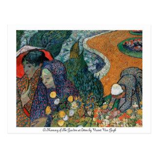 Una memoria del jardín en la postal de Etten