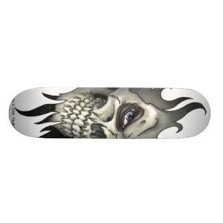 Una mirada de un cráneo patines
