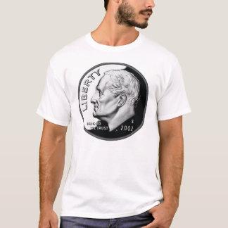 Una moneda de diez centavos camiseta
