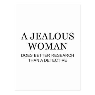Una mujer celosa postal