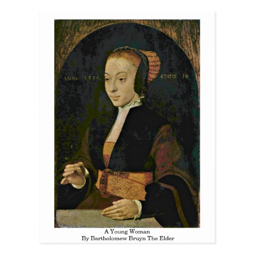 Una mujer joven de Bartholomew Bruyn la anciano Tarjeta Postal