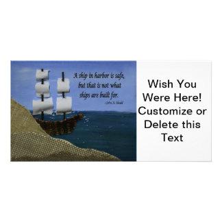 Una nave en puerto tarjetas fotograficas personalizadas