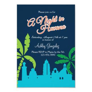 Una noche en La Habana Invitación 8,9 X 12,7 Cm