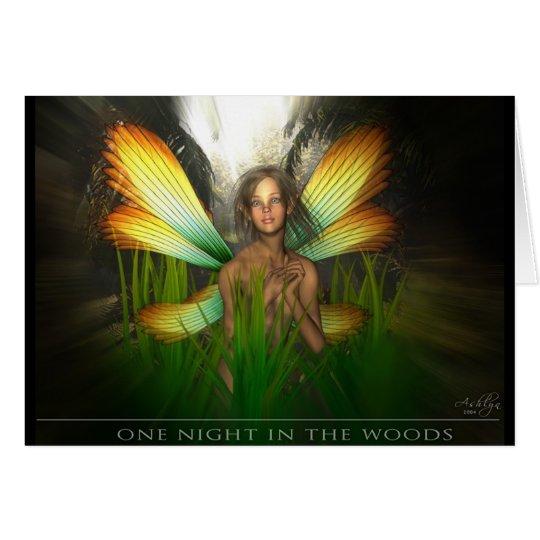Una noche en las maderas tarjeta de felicitación