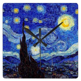 Una noche estrellada inspiró los relojes de pared