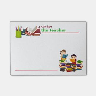 Una nota de las notas de del profesor