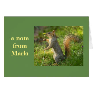 ¡Una nota de Marla! Tarjeta Pequeña
