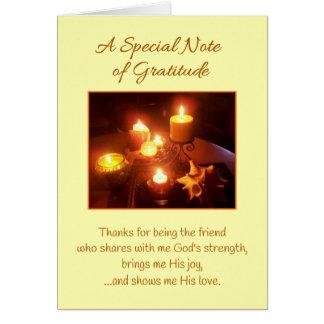 Una nota especial de la amistad de la gratitud… tarjeta de felicitación