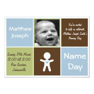 una nueva invitación del bebé del día conocido del