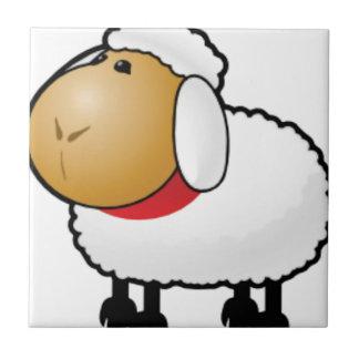 una oveja del espolón azulejo cuadrado pequeño