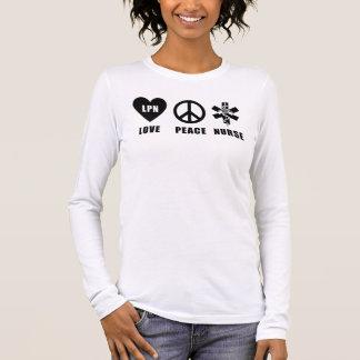 Una paz LPN del amor Camiseta De Manga Larga