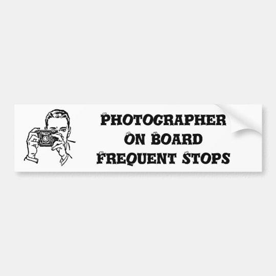 Una pegatina para el parachoques del fotógrafo del