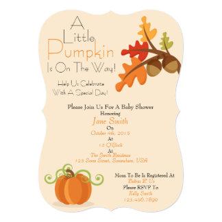 Una pequeña fiesta de bienvenida al bebé de la invitación 12,7 x 17,8 cm