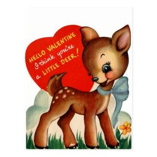 Una pequeña postal de la tarjeta del día de San