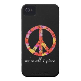 Una pieza para la paz iPhone 4 Case-Mate carcasas