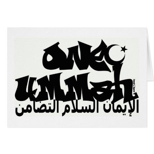 Una pintada de Ummah Felicitación