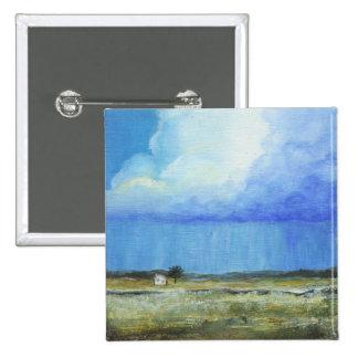 Una pintura de paisaje perfecta del arte abstracto chapa cuadrada 5 cm