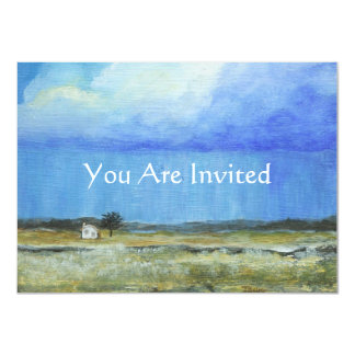 Una pintura de paisaje perfecta del arte abstracto invitación 11,4 x 15,8 cm
