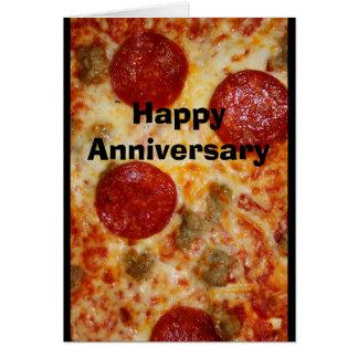 Una pizza mi corazón pertenece a usted tarjeta del