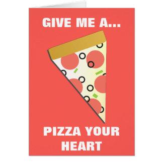 Una pizza su corazón II Tarjeta De Felicitación