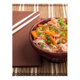 Una porción de los fideos HU-TUE del arroz Postal