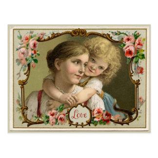 Una postal de la reproducción del vintage del amor