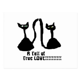 Una postal del gato del amor del purrfect