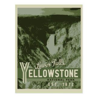 Una postal más baja de las caídas del parque
