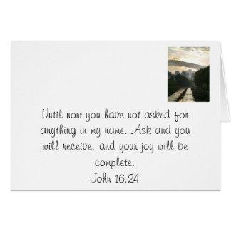 Una promesa de Jesús Tarjeta Pequeña