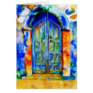 Una puerta griega tarjeta de felicitación