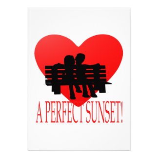 Una puesta del sol perfecta