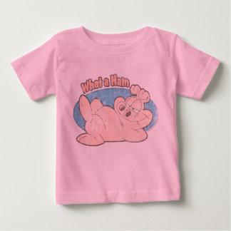 Una qué camisa del bebé del jamón