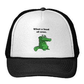Una qué carga del dibujo animado del cocodrilo del gorras de camionero