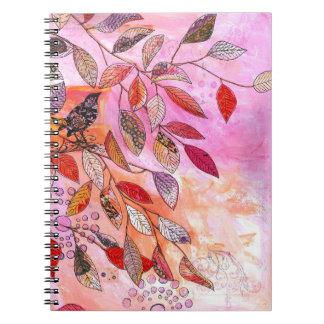 una rama muy rosada cuaderno