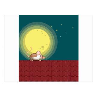 Una rata en el tejado postal
