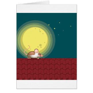 Una rata en el tejado tarjeta de felicitación