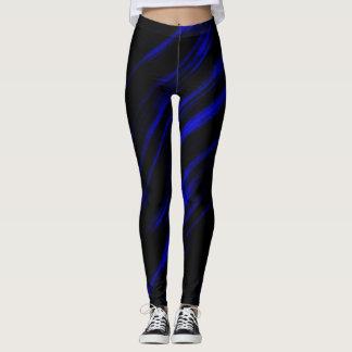 Una raya azul leggings